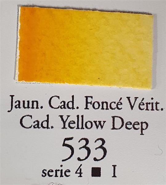 Cadmium Yellow Deep 533 10ml Tube-Sennelier-Freya Jones Art and Craft
