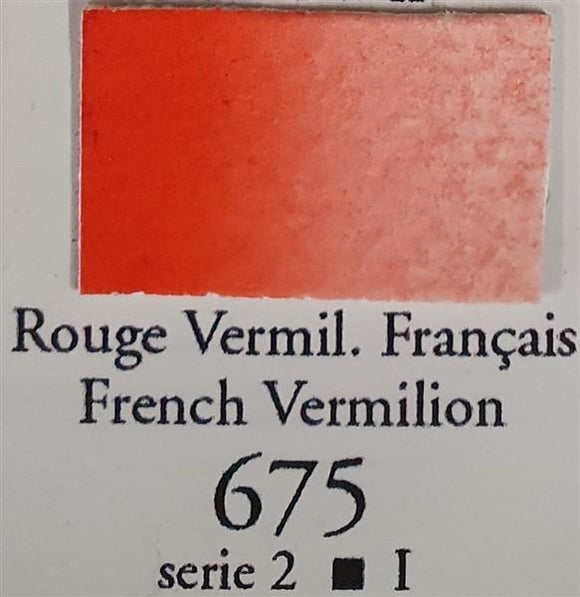 French Vermilion 675 10ml Tube-Sennelier-Freya Jones Art and Craft