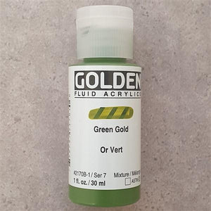 Green Gold Fluid Acrylic-Golden-Freya Jones Art and Craft