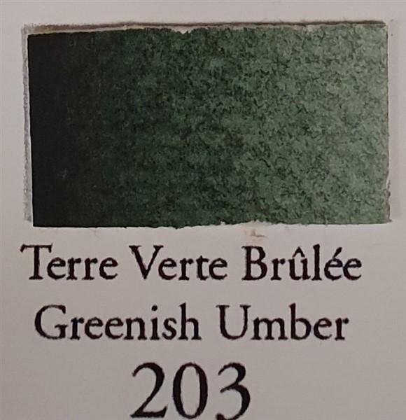 Greenish Umber 203 Half Pan-Sennelier-Freya Jones Art and Craft