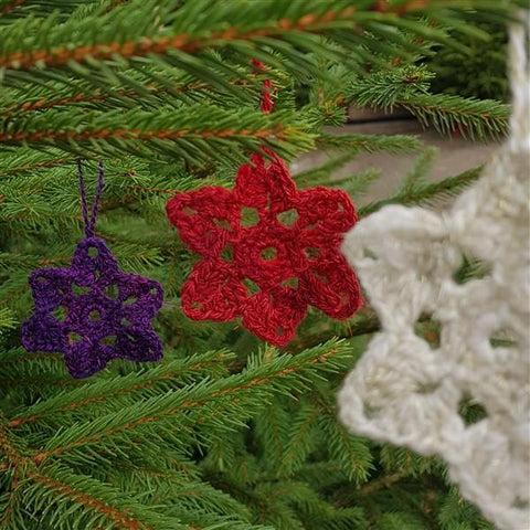 Hand Spun and Hand Crocheted Sparkly Star-Christmas-Freya Jones-Freya Jones Spinning and Fibre Craft