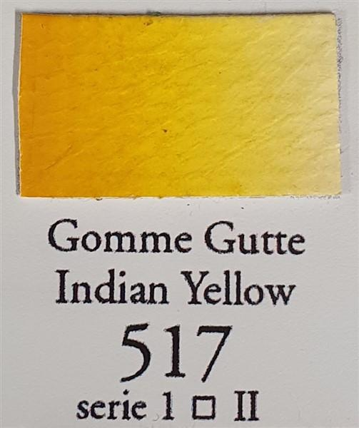 Indian Yellow 517 Half Pan-Sennelier-Freya Jones Art and Craft