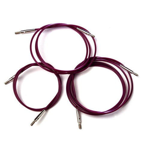KnitPro Purple Interchangable Needle Cables-KnitPro Knitting Needles-KnitPro-Freya Jones Spinning and Fibre Craft