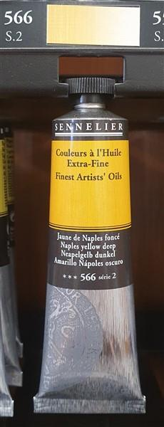 Naples Yellow Deep 566-Oil Paint-Sennelier-Freya Jones Spinning and Fibre Craft