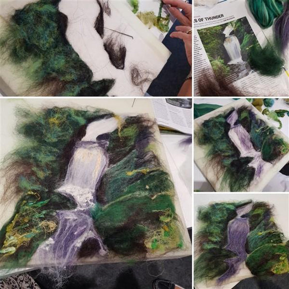 Needle Felted Landscapes-courses and workshops-Freya Jones-Freya Jones Spinning and Fibre Craft