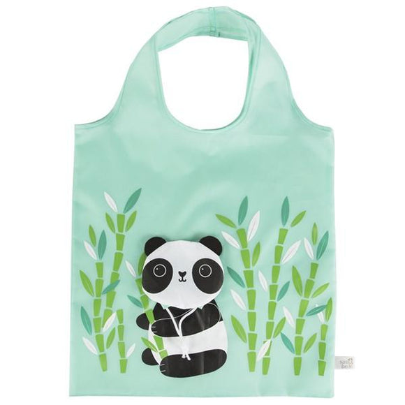 Panda Foldable Shopping Bag-Bags-sass&belle-Freya Jones Spinning and Fibre Craft