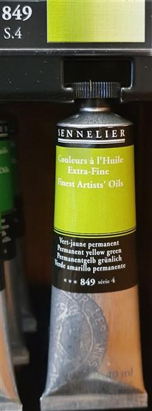 Permanent Yellow Green 849-Oil Paint-Sennelier-Freya Jones Spinning and Fibre Craft