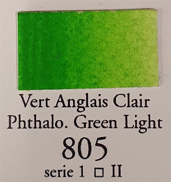 Phthalo Green Light 805 Half Pan-Sennelier-Freya Jones Art and Craft