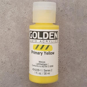 Primary Yellow Fluid Acrylic-Golden-Freya Jones Art and Craft