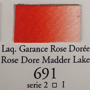 Rose Dore Madder Lake 691 Half Pan-Sennelier-Freya Jones Art and Craft
