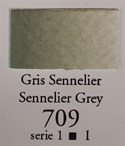 Sennelier Grey 709 Half Pan-Sennelier-Freya Jones Art and Craft