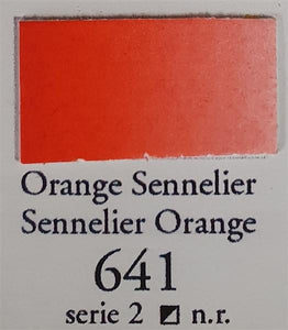 Sennelier Orange 641 Half Pan-Sennelier-Freya Jones Art and Craft