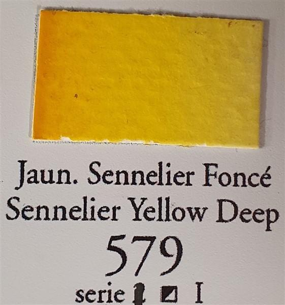 Sennelier Yellow Deep 579 10ml Tube-Watercolour-Sennelier-Freya Jones Spinning and Fibre Craft