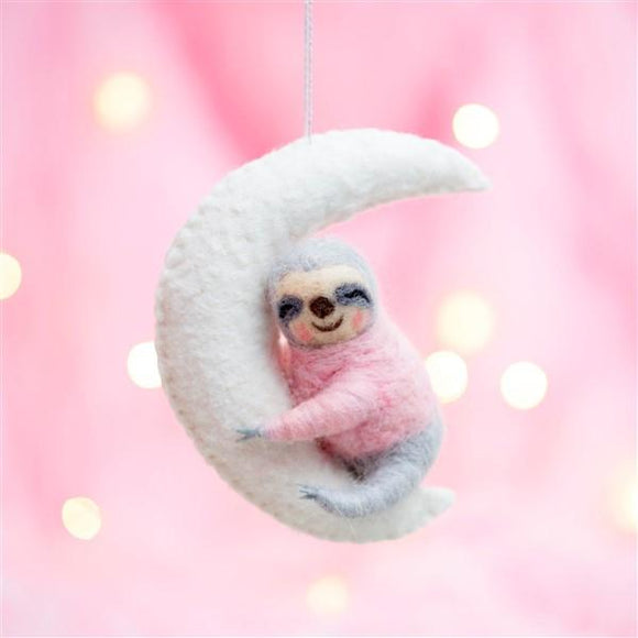 Sloth on a Moon-Christmas-sass&belle-Freya Jones Spinning and Fibre Craft