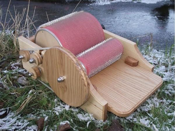 Standard Size Ash Classic Carder-drum carder-classic carder-Freya Jones Spinning and Fibre Craft
