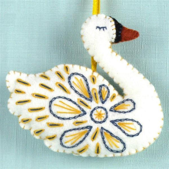 Swan-a-swimming Felt Craft Kit-Corinne Lapierre-Freya Jones Art and Craft
