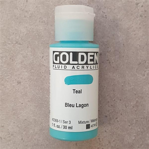 Teal Fluid Acrylic-Golden-Freya Jones Art and Craft