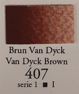 Van Dyck Brown 407 10ml Tube-Sennelier-Freya Jones Art and Craft