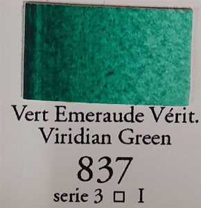 Viridian Green 837 Half Pan-Sennelier-Freya Jones Art and Craft