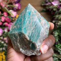 Semi Polished Amazonite Point - Chakra Zulu