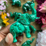 Mini Malachite Elephant Specimen