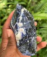 Semi Polished Sodalite Point - Chakra Zulu