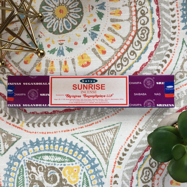 Sunrise Champa Incense Sticks - Chakra Zulu