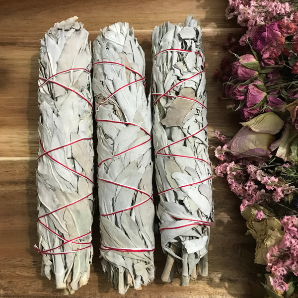 Large White Sage Incense Smudge Stick - Chakra Zulu