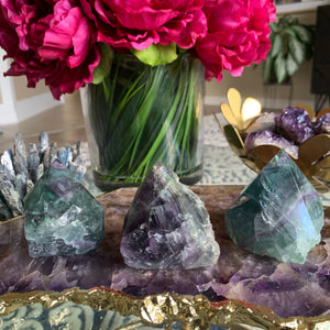 Semi Polished Fluorite Tower - Chakra Zulu