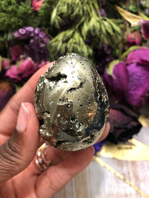 Pyrite Display Egg - Chakra Zulu