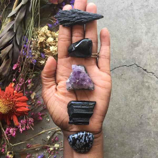 Crystals for Negative Energy Protection - Chakra Zulu