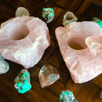 Rose Quartz Candle Holder - Chakra Zulu