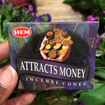 Attract Money Cone Incense - Chakra Zulu