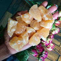Raw Orange Calcite Stone - Chakra Zulu