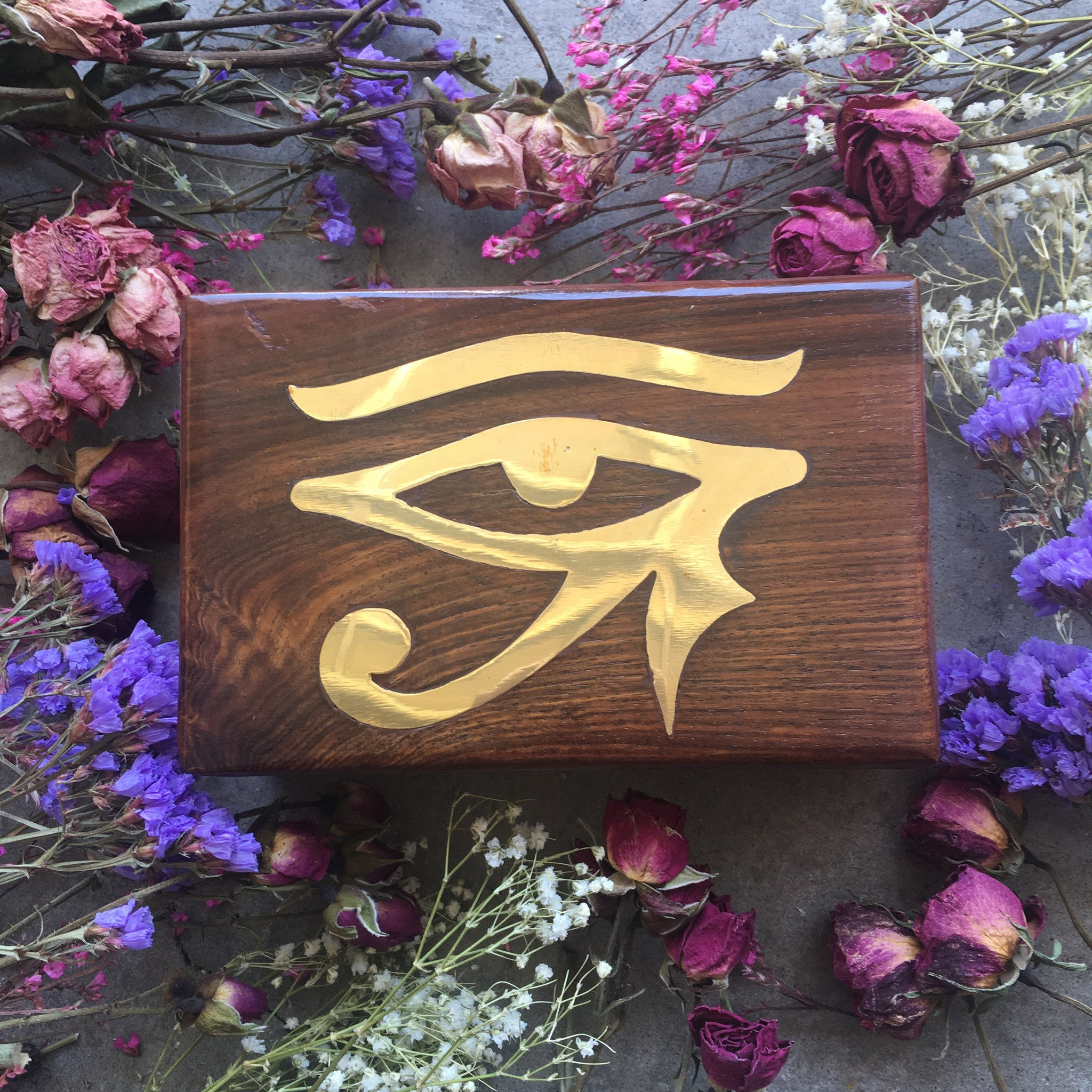 Wooden Gemstone Storage Box - Chakra Zulu