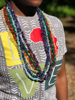 "36"" Crystal Chip Necklace - Chakra Zulu"
