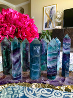 Large Rainbow Fluorite Tower - Chakra Zulu