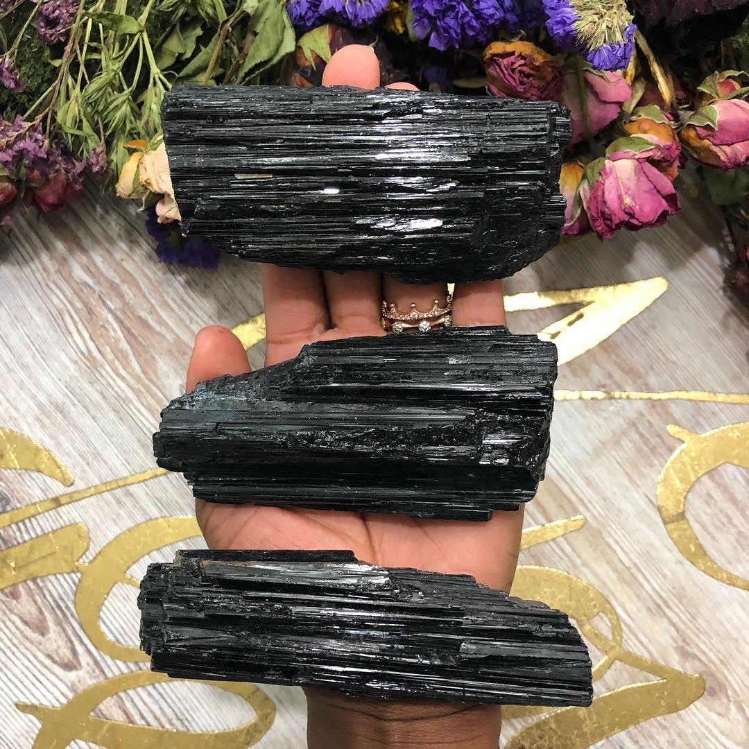 Large Black Tourmaline Rod - Chakra Zulu