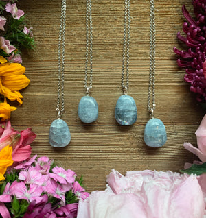 Tumbled Celestite Necklace