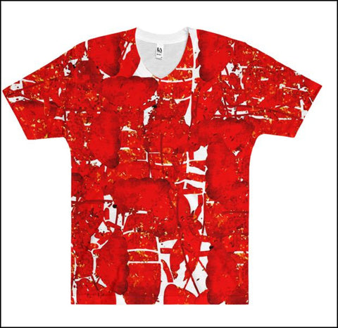 Lobster Chic - Full-print Uni-sex Tee - Lobster Red