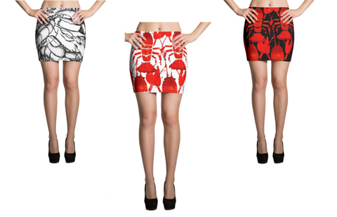 Lobster Chic - Mini-Skirt - print allover
