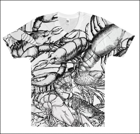 Lobster Chic - Full-print Uni-sex Tee - Lobster #5