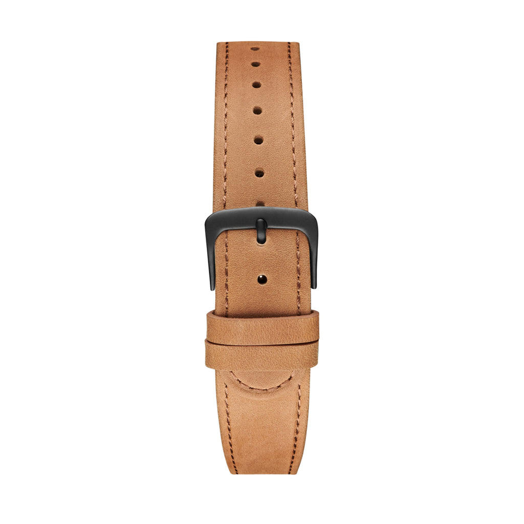 Camel Black Leather