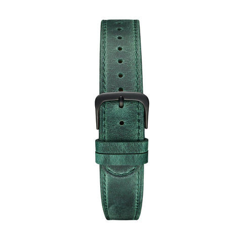 Green Black Leather