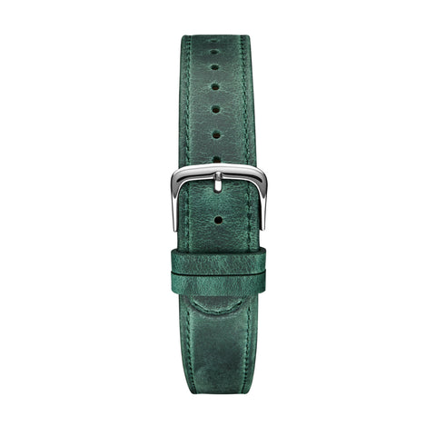 Green Silver Leather