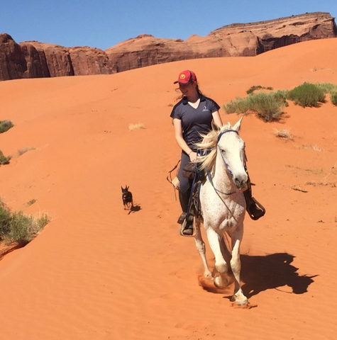 Ms. Emmert riding in Monument Valley, UT
