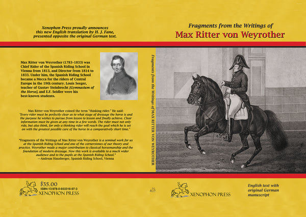 Fragments from the writings of Max Ritter von Weyrother translated by Hilary Fane
