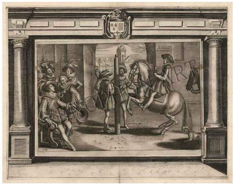 Figure 15 by Crispijn van de Passe II from Maneige Royal - Fine Art Giclée on Paper