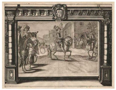 Figure 21 by Crispijn van de Passe II from Maneige Royal - Fine Art Giclée on Paper