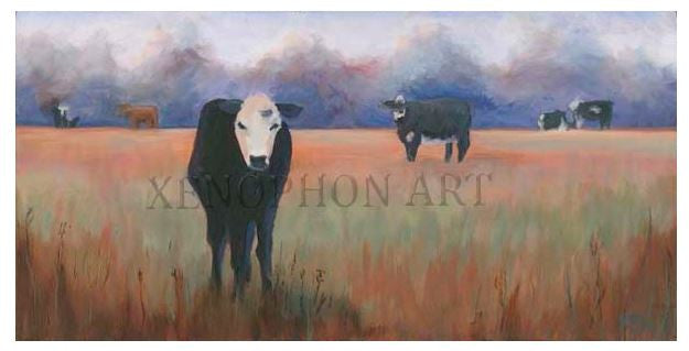 """How Now Brown Cow"" by Richard F. Williams Giclée on Canvas"